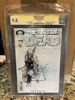 The Walking Dead #7 Cgc Classé 9,8 Signé Par Charlie Adlard Image Comics 7
