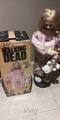 The Walking Dead Animatronic Teddy Bear Girl Spirit Animated Halloween Prop Rare