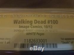 The Walking Dead Comic 100 101 102 Cgc Et Signé Connexion Variantes