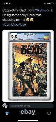 The Walking Dead Deluxe 1 Black Foil Edition Cgc 9.8 Seulement 200 Exemplaires