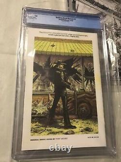 The Walking Dead Deluxe 1 Cgc 9.8 Finch Set Of 4 B/w Sketch Red Gold Black Foil
