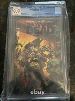 The Walking Dead Deluxe #1 Cgc 9.9! Finch Black Foil! Ultra Rare 9,9! En Main