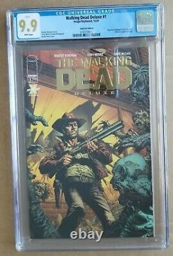 The Walking Dead Deluxe #1 Comic Gold Foil Cgc 9.9 Cgc 9.9 Cgc 9.9 Mt