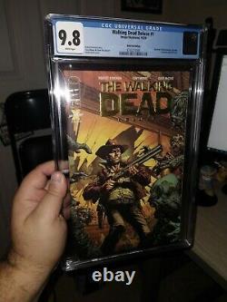 The Walking Dead Deluxe 1 Gold Foil Cgc 9.8 Une Variante Par Magasin