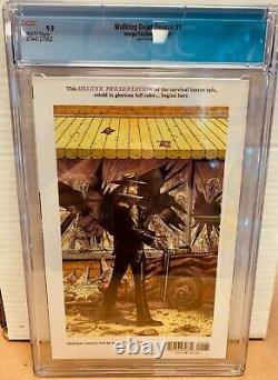 The Walking Dead Deluxe #1 Gold Foil Variante Cgc 9.9 Mint Image Comics 2020