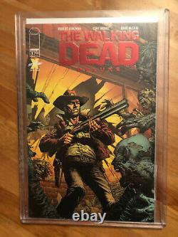 The Walking Dead Deluxe #1 Red Foil Exclusive Skybound Variante Cover Nm Twd Cgc