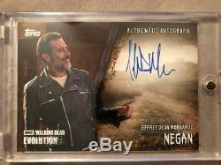 The Walking Dead Evolution Carte Autograph Jeffrey Dean Morgan Negan # / 99