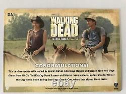The Walking Dead Season 2, Redemption Double Carte Autograph Cohan / Yeun Da1