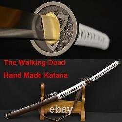 The Walking Dead Sword-michonne's Katana Zombie Killer Damascus Foldedsteelblade