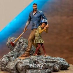 The Walking Dead Telltale Games Clementine Clem & Lee Polystone Diorama Statue