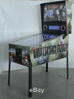 The Walking Dead Visual Pinball Machine De Collection Limitée Avec 42 Led Écran