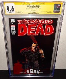 The Walking Image 100 Morts Cgc 9,6 Jeffrey Dean Morgan Negan Signé 2ème Impression