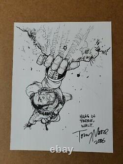 Tony Moore Art Original Fear Agent Sketch 9x12 (walking Dead) Image Comics
