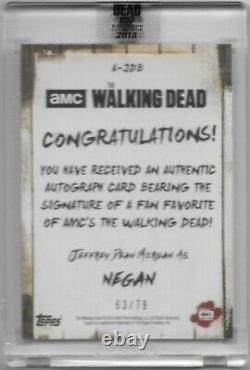 Topps Autograph Collection Dernière Marche Auto Jeffrey Dean Morgan Negan / 79