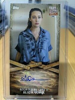 Topps Craignez L'autographe Walking Dead Adc-2 Alycia Debnam-carey Comme Alicia