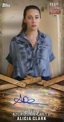 Topps Fear The Walking Dead Autograph Card Adc-2 Alycia D. Carey As Alicia Clark
