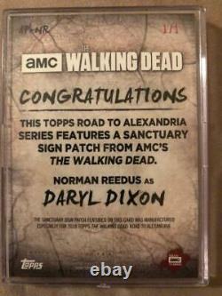 Topps The Walking Dead Rta Sign Patch Card Of Norman Reedus As Daryl 1/1 Blood