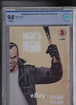 Voici Negan Image Comics Ltd. 500 The Box Dernière Marche Aveugle 25 9.8 Cbcs Cgc