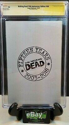 Walking Dead # 100 15 Ann 1100 Harren E Variante Cgc Ss 9.8 Signé Kirkman