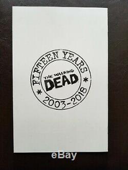 Walking Dead # 100 15e Anniversaire Secret 1100 Bubble Variant Cover Image E