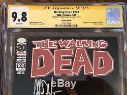 Walking Dead # 100 1er Negan Cgc 9.8 Ss Jeffrey Dean Morgan