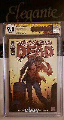 Walking Dead 100 Cgc Ss 9.8 1er Negan & Lucille Kirkman Signé Rare Wd Cgc Label