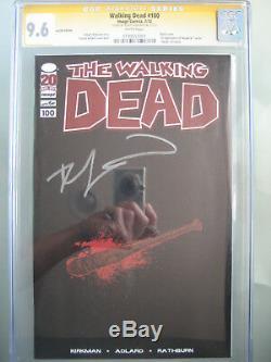 Walking Dead # 100 Lucille Variant Cgc 9.6 Ss Signé Robert Kirkman 1er Negan