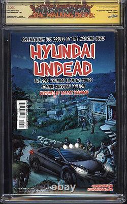 Walking Dead #100 (variante Lucille) Cgc 9.6 Ss / Signé Par Kirkman & Negan