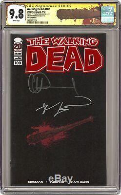 Walking Dead # 100l Adlard Feuille Rouge Variante Cgc 9.8 Ss 2012 0932870004 1er Negan