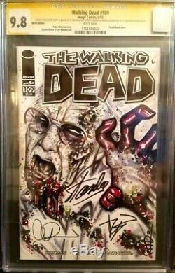 Walking Dead # 109 Cgc 9,8 / Zombie Stan / Signé Par Kirkman Et Adlard Stan Lee
