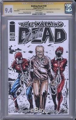 Walking Dead # 109 Cgc Ss Stan Lee A Signé La Couverture Première Récréation Michonne Wd 19