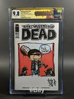 Walking Dead # 109 Édition Sketch (cjc 9.8) Signé Et Croquis Skottie Young
