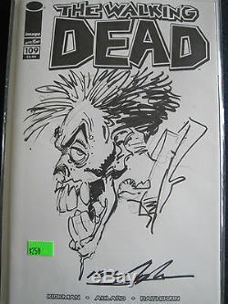 Walking Dead 109 Variante De Couverture Blanc Avec Croquis Zombie Joker Par Neal Adams