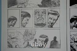 Walking Dead #133 Pg 10 Dante Vs Whisperers A Révélé Charlie Adlard Art Original
