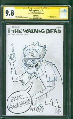 Walking Dead 150 Cgc 9.8 Ss Robbie Cook Stan Lee Zombie Croquis D'art Original
