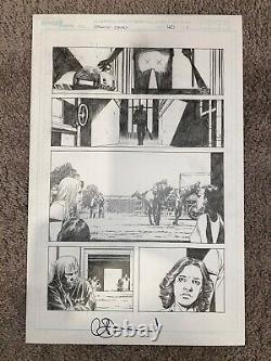 Walking Dead #150 Page 1 Dwight Avec Lucille Charlie Adlard Art Original