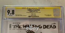 Walking Dead 150 Signés Sketched Invincible Comme Zombie Par Ryan Ottley Cgc Ss 9.8
