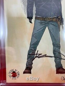 Walking Dead 163 Variant 9.8 Cgc Signé Par Kirkman 1200 Ratio Étiquette Wd Rick
