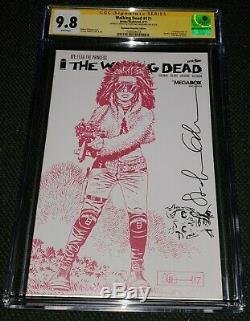 Walking Dead 171 Skybound Megabox Variante Cgc 9.8 Signe Stefano Gaudiano Sketch