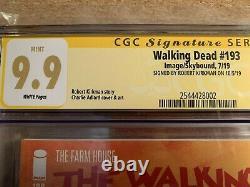 Walking Dead #193 1ère Impression Cgc Ss 9.9! Mint! Pas 9.8! Signé Par Robert Kirkman