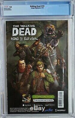 Walking Dead # 193 Cgc 9.9 1er Imprimer Dernier Numéro Rick Grimes Mort 1 9.8 Ultra Rare