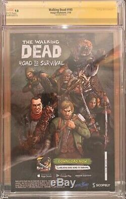 Walking Dead # 193 Rare Comicon Édition Cgc 9.8 Ss Signé Par Robert Kirkman