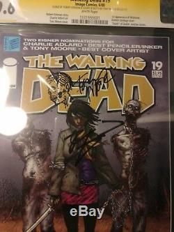 Walking Dead # 19 1ère Michonne Cgc Signée 2x 9.6 Nm + Tony Moore Kirkman Sketch
