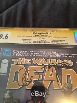 Walking Dead # 19 1ère Michonne Cgc Signée Ss 4x 9.6 Nm + Moore Danai Kirkman Adlard