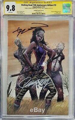 Walking Dead 19 Cgc 9.8 Ss J Scott Campbell Virgin Robert Kirkman Double Signé