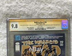 Walking Dead # 19 Cgc 9.8 Ss Kirkman, Rathburn, Adlard, Moore! 1er Michonne