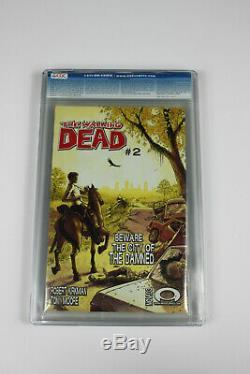 Walking Dead # 1 1ère Impression Cgc 9.8 Pages Blanches 1ère Comparution Rick Morgan