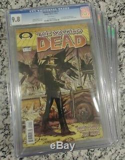 Walking Dead # 1 2 3 4 5 6 7 8 9 10 9,8 Cgc Entier 1 Thru 193 1st All Print First