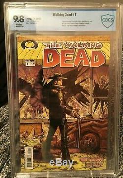 Walking Dead # 1 Cbcs 9.8 Image 2003 1ère Application De Rick Grimes Moderne Graal