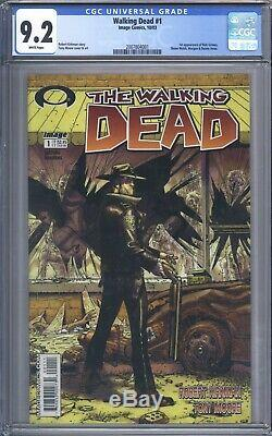 Walking Dead # 1 Cgc 9.2 1ère Impression Presque Parfaite En Haute Qualité 1ère Application De Rick Grimes